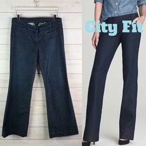 J. Crew City Fit Flare Jeans Denim Career Size 8